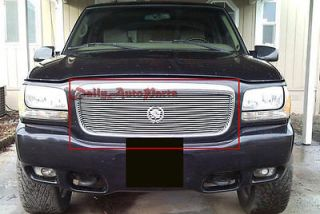 Billet Grille 98 01 Cadillac Escalade Front Grill Insert Aluminum Replacement