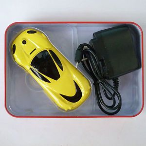 2013 Mini Cool Sports Car Yellow Unlocked Phone Quad Band Dual Sim Mobile Phone
