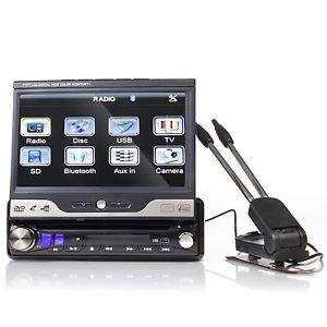 "Digital in Dash Car 7"" LCD Monitor Touch DVD Stereo Radio Player TV USB Antenna"