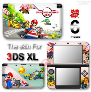 Mario Kart Aamazing Cute New Skin Sticker Decal Cover 1 for Nintendo 3DS XL