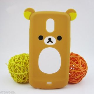 Lovely Cute Teddy Bear Silicone Soft Case for Samsung Galaxy Nexus i515 I9250