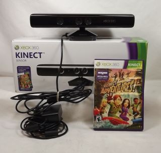 Xbox 360 Kinect Sensor Bar with Kinect Adventure Game