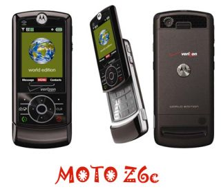 New Motorola Verizon Page Plus Z6c Z6 2MP Camera Phone CDMA Slider Black