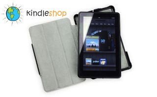 New  Kindle Fire Ultra Slim Folding Black Leather Cover Case