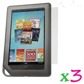 3 Clear LCD Screen Protector Film Cover Shield Guard Barnes Noble Nook Color