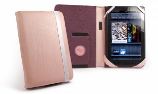 Tuff Luv 'Embrace' Leather Case Cover for Kindle Fire Kindle Keyboard Pink