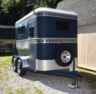 Extra Tall 2 Horse Rampload Trail Sport Horse Trailer 2 Walk Through Doors