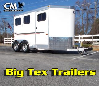 New cm 2 Horse Slant All Aluminum Horse Trailer