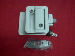 Fastec RV camper White Entry Door Lock Travel Trailer
