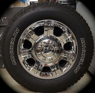 "Chrome Ford F250 F350 Super Duty 20"" Factory Wheels Rims Michelin Tires 2005 13"