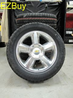 "20"" Suburban Tahoe Factory Polished Wheels Goodyear Tires 5308 Comleate New Set"