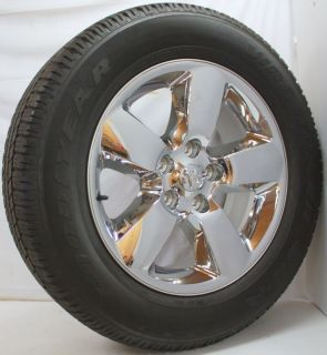 "New Set 4 2013 Dodge RAM 1500 Chrome Clad 20"" Wheels Rims Goodyear Tires"