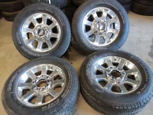 "Factory 20"" Ford Super Duty F250 F350 Wheels and Goodyear Tires"