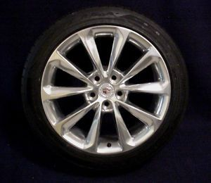 "Cadillac XTS 2013 19"" 10 Spoke Polished Alloy Wheels Goodyear Tires Set of 4"