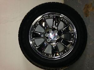 GMC Denali 20 inch Chrome Wheels Goodyear Tires Chevrolet Nice Rims 7 Spoke