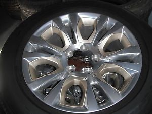 "20"" Dodge RAM 1500 Laramie Longhorn Wheels and Goodyear Tires Like New NR"