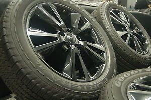 "Jeep Grand Cherokee 20"" Black Factory Altitude Wheels Rims Goodyear Tires 2013"