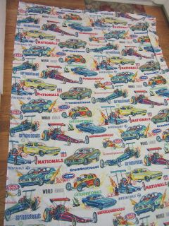 1970s NHRA Bed Sheet Top 72x104 Drag Racing Winternationals Hot Rods Dragsters