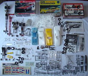 Huge Lot Model Kits Parts Dragsters Funny Cars Hot Rods Junkyard Scrap 1 25