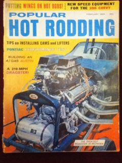 1966 Popular Hot Rodding Magazine Putting Wings on Hot Rods