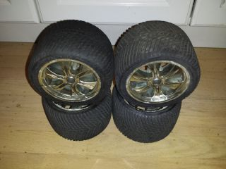 Proline Traxxas Truck Tires Wheels E Maxx T Maxx Revo REDUCED Price