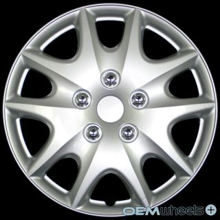 "4 New Silver 15"" Hub Caps Fits Chevy Truck Van Crossover Wheel Covers Set"