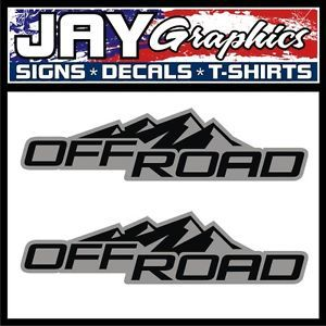 Off Road 2WD 4x4 Vinyl Decals Stickers Chevy Colorado GMC Canyon Truck