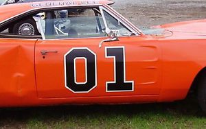 General Lee 01 Vinyl Decal Set for Car Doors Dukes of Hazzard Graphic Stickers