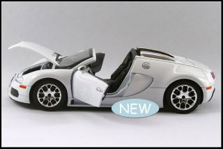 New Bugatti Vayron 1 24 Alloy Diecast Limited Edition Open Model Car White