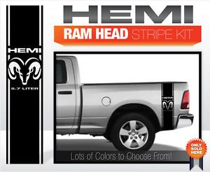 Dodge RAM Truck Decals Stripes Hemi RAM Head Stripe Kit
