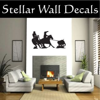 Cowboy Horse Rodeo Wall Car Vinyl Decal Sticker ST164