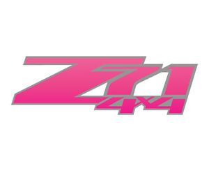 Chevy Z71 4x4 Offroad Truck Decals Pink Silver Stickers Chevrolet GMC Girls