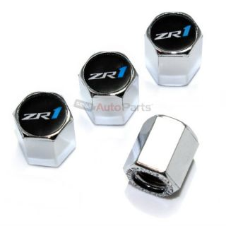 4 Chevy C6 Corvette ZR1 Logo Chrome ABS Tire Wheel Stem Air Valve Car Caps
