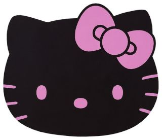 Sanrio Hello Kitty Black Car Rubber Floor Mat Ribbon