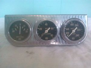 Vintage Stewart Warner Gauges and Panel Cluster Hot Rod Rat Street Traditional