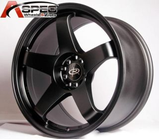 1 Rota P 45R 18x9 5 5x114 3 20 Flat Black Rims Wheels