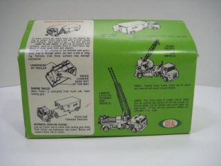 Ideal 1970s Mighty MO Tractor Trailer Fire Engine Ladder Truck SEALED Vntg