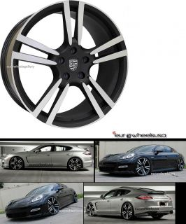 "22"" Stuttgart Wheels Set for Porsche Panamera s 4S Staggered Rims 22x10 22x11"