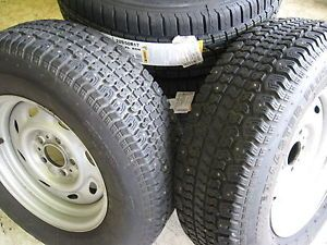"2 225 70R15 Wintermaster Snow Tires on 15"" x 6"" Ford Ranger or Explorer Wheels"