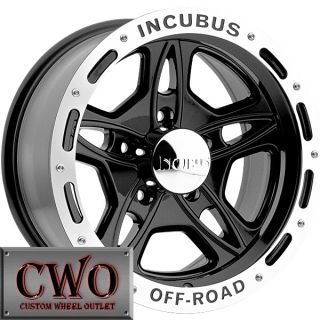 15 Black Off Road Wheels Rims 6x139 7 6 Lug Sierra Titan Tundra GMC Chevy