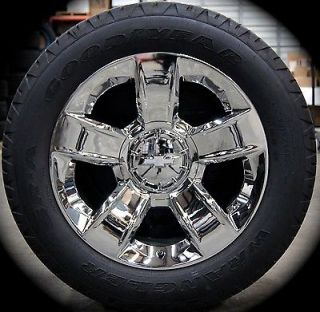 "New 2014 Chevy Silverado Tahoe Suburban Avalanche 20"" Chrome Wheels Rims Tires"
