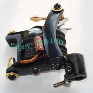 Super Bulldog Tattoo Machine Gun Handmade 10 Wrap Coils