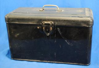 Vtg Old Hot Rat Rod Running Board Tool Box Ford 1930s