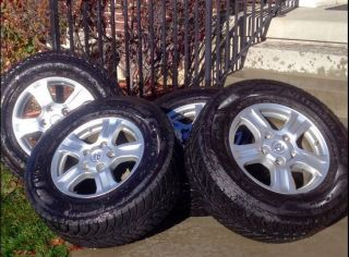 4X 2008 Toyota Sequoia Tundra Light Use Rims and Studded Snow Tires 275 65 R18
