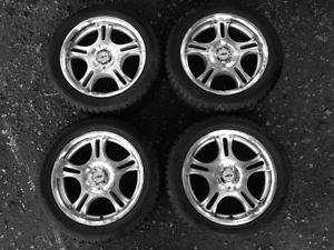 Set of 4 Hankook Studded Snow Tires with American Racing Wheels 225 50 17