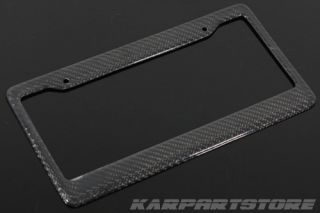 Real Carbon Fiber License Plate Frame