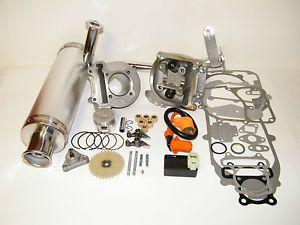100cc Big Bore Kit Performance Power Pack Silver Exhaust 139QMB Chinese Scooter
