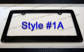 US Canada Real Carbon Fiber License Plate Frame CF Tag Frame CF Tag Cover