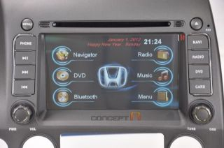 2008 07 06 Honda Civic DVD GPS Navigation Radio Double 2 DIN Stereo in Dash Deck