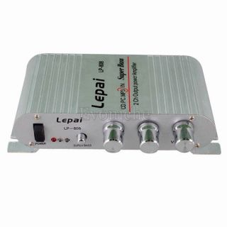 Car Motorcycle Hi Fi Amplifier 2 Channel Amp Lepai Stereo Amp iPod  Amplifier